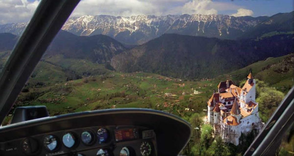 Airplane tour over Bran Castle